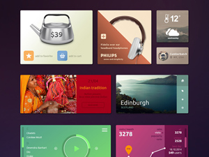 Colorful Tiles UI kit
