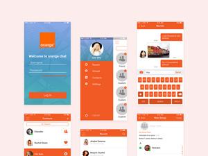 Orange Chat UI Kit