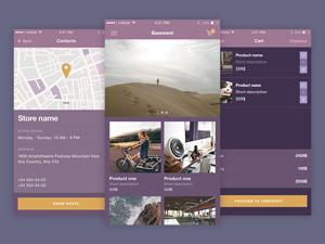 Ecommerce UI Kit iOS
