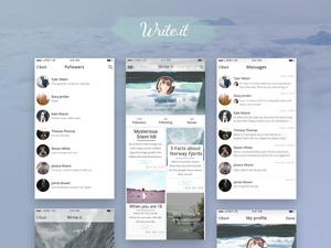Write.it Blog iOS UI Kit