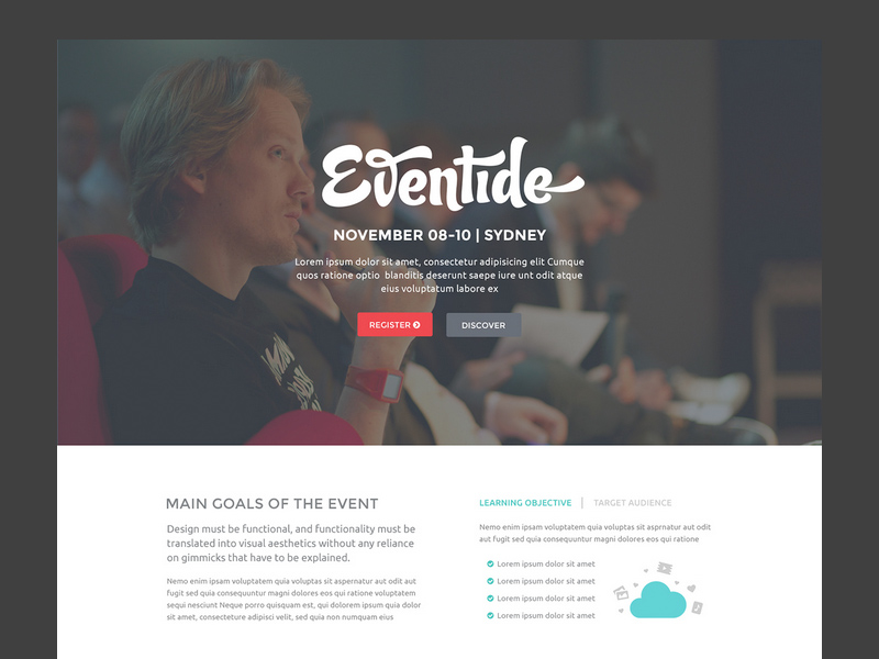 Eventide landing page template freebie download photoshop eventide landing page template pronofoot35fo Image collections