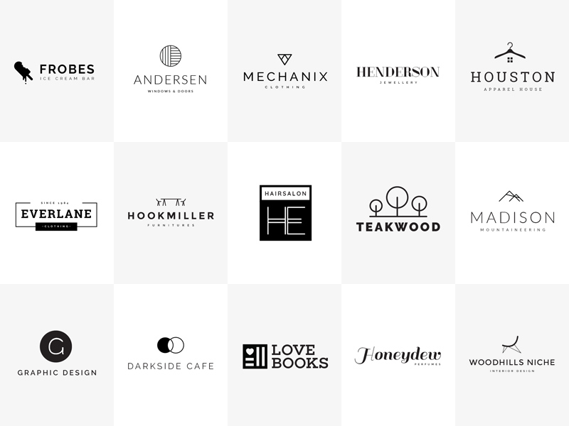 15 minimal logo templates free psd template psd repo