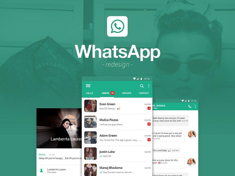 Whatsapp Redesign Freebie Download Photoshop Resource