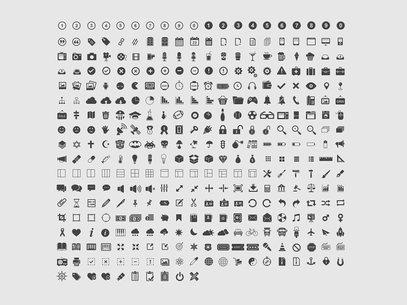 Free 350 Icons Design 2017 download