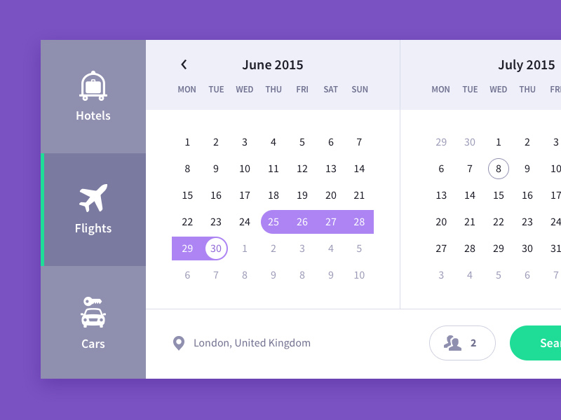 Calendar Ui Design Psd : Travel calendar ui freebie download photoshop resource