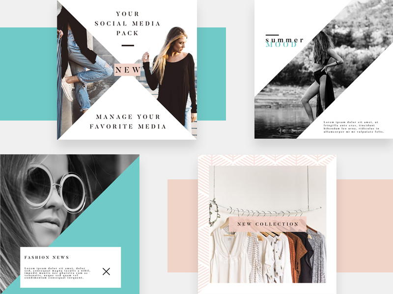 4 instagram fashion templates