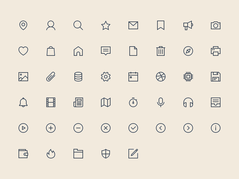 48 Linear Icons