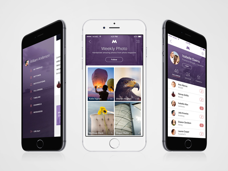 Megap iOS 9 Template Freebie - Download Photoshop Resource - PSD Repo