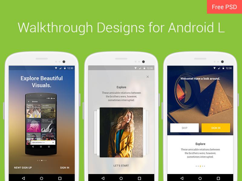 Walkthrough Design Freebie - Download Photoshop Resource - PSD Repo