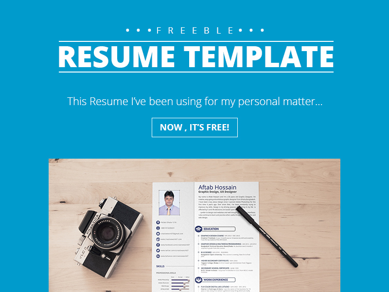 2 Page Resume Template Freebie - Download Photoshop Resource - PSD Repo