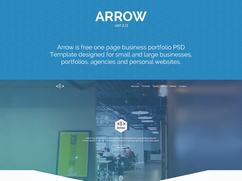 Arrow one page business portfolio template freebie download arrow one page business portfolio template flashek