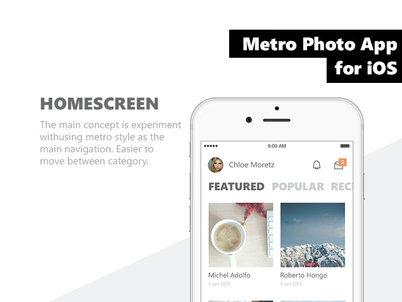 metro ios app template freebie download photoshop resource psd repo