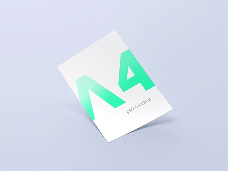 Free A4 Clean Paper Mockup download