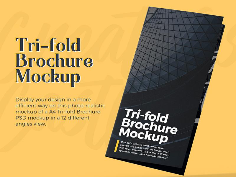 A4 Tri Fold Brochure Psd Mockup Free Psd Template Psd Repo
