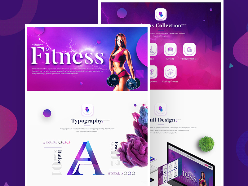 Free Alex Fitness Landing Page Template download