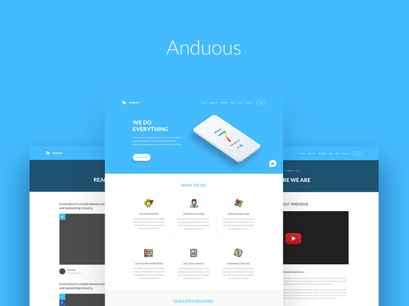 Anduous psd website templates freebie download photoshop anduous psd website templates maxwellsz