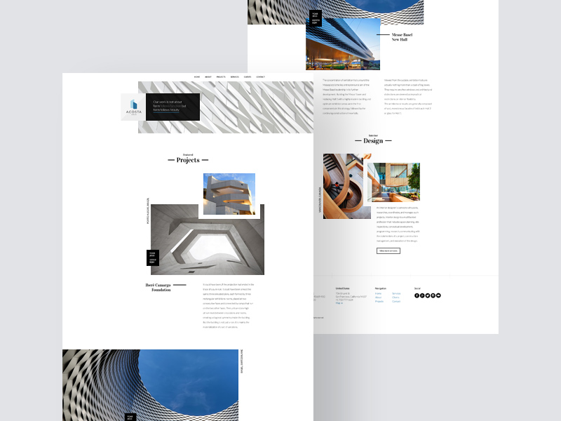Free Acosta – Architecture Website Template download