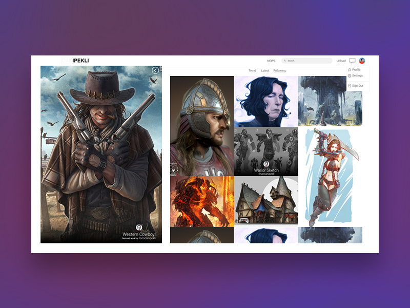 Free Artwork Website Theme Template download