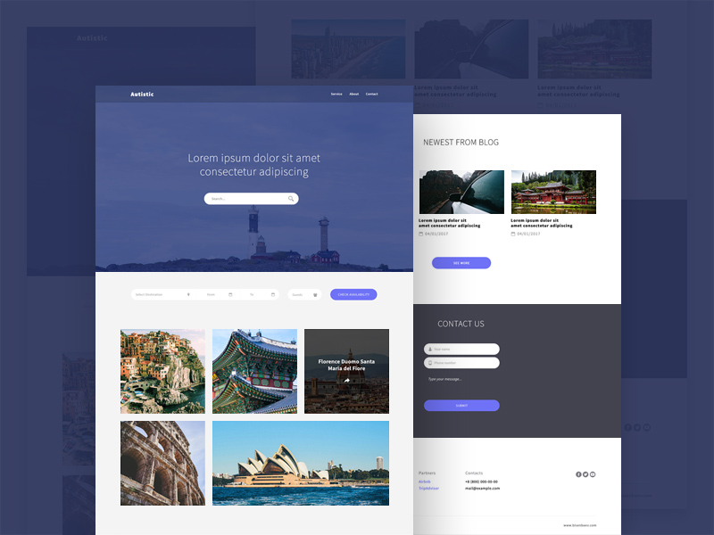 Free Autistic Website Template download