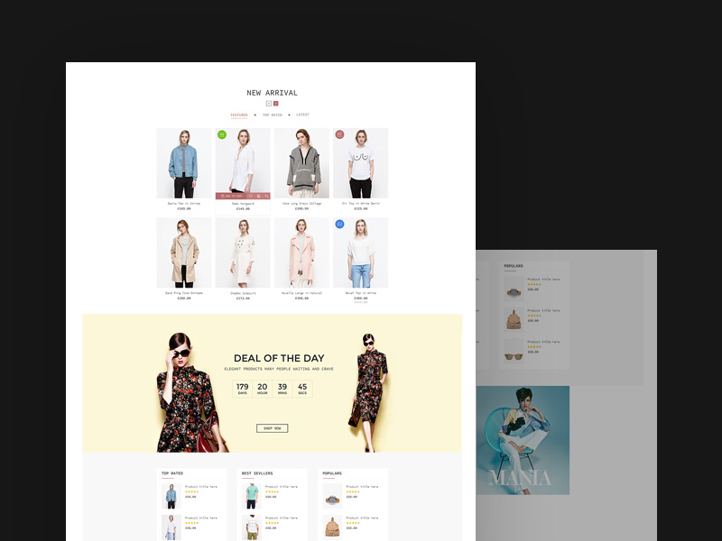 Fashion Ui Kit Free Psd Template Psd Repo