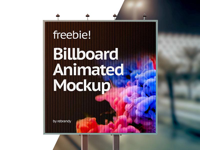 billboard animated mockup free psd template psd repo