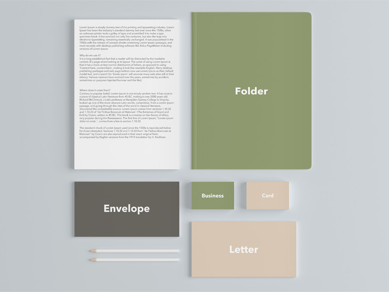 Stationary branding mockup set sample | free psd template | psd repo.