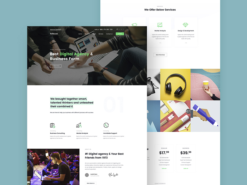 Small business website template freebie download photoshop small business website template cheaphphosting Images