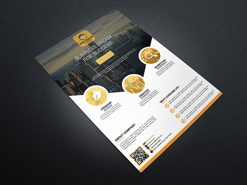 Business flyer psd template freebie download photoshop resource business flyer psd template cheaphphosting Image collections