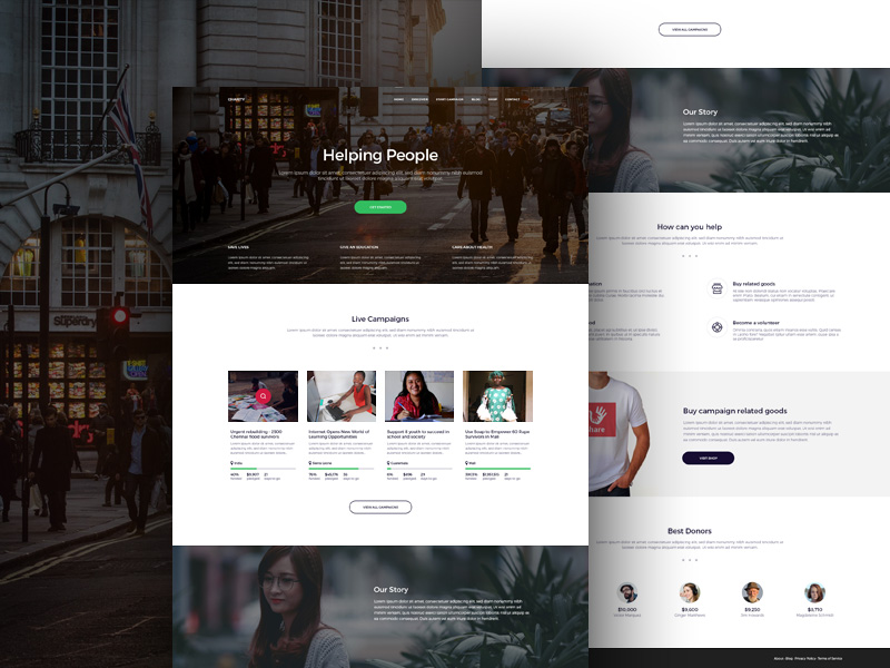 Charity Website Template Freebie - Download Photoshop Resource - PSD ...