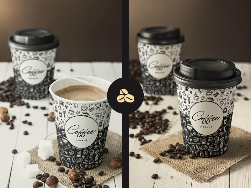 Free Coffee Cup Branding Mockup