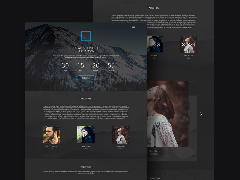 comi coming soon page template freebie download photoshop