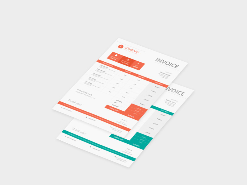 Company Invoice Mockup Template Freebie Download Photoshop