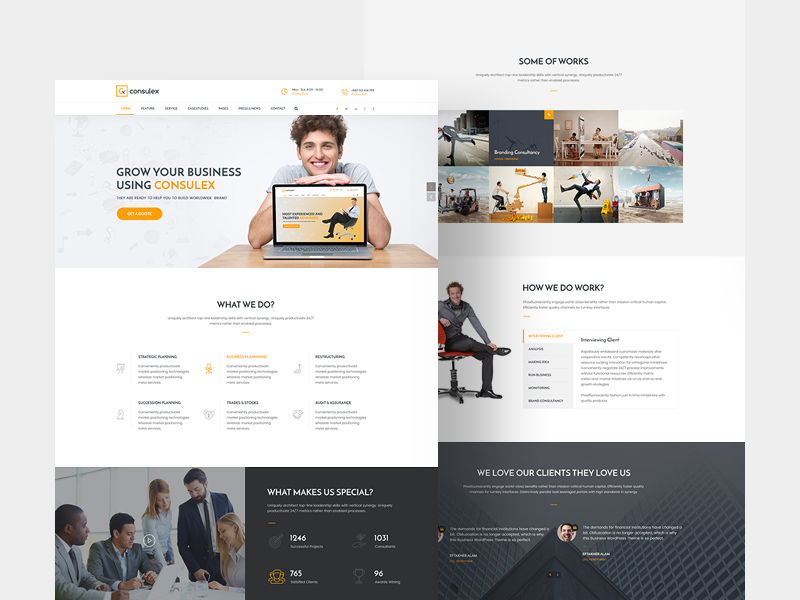 Free Consulex Free UI Kit & Web Theme download