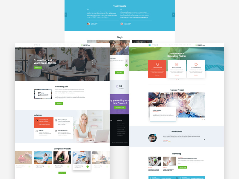 Free Consultancy Website Template download