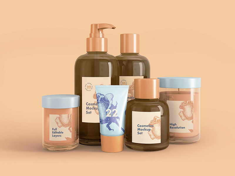 Free Cosmetics Mockup download