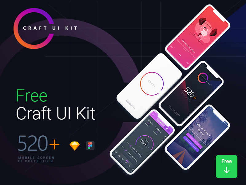 Free Craft UI Kit download