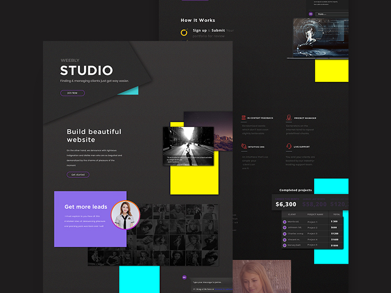 Creative Studio Website Template Freebie Download Photoshop - Photo studio website template