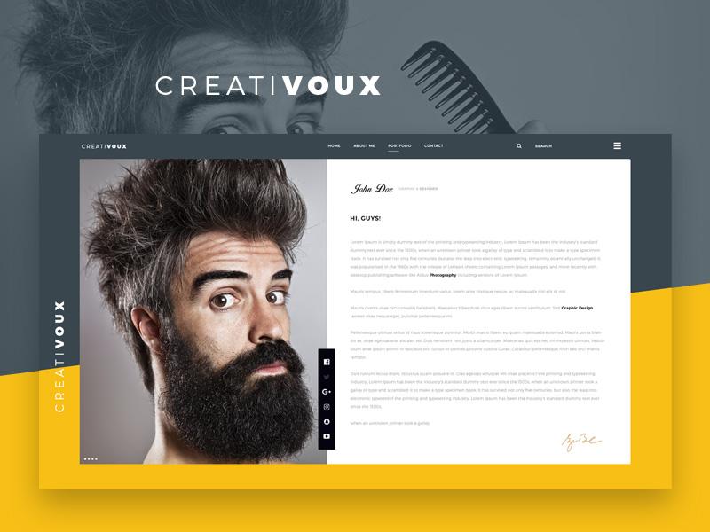 CreatiVoux CV & Portfolio Theme