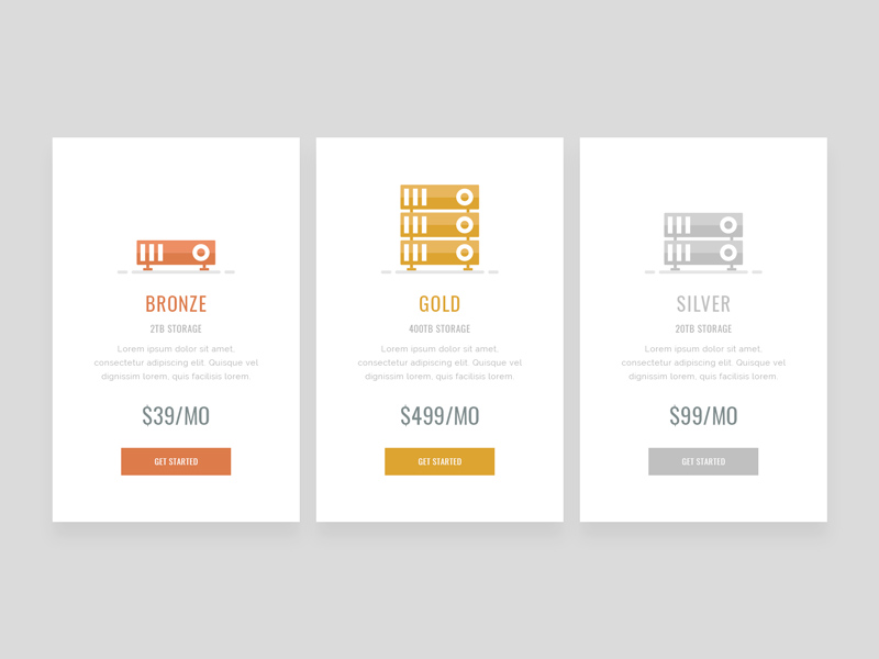 Free Simple Pricing Table Design download
