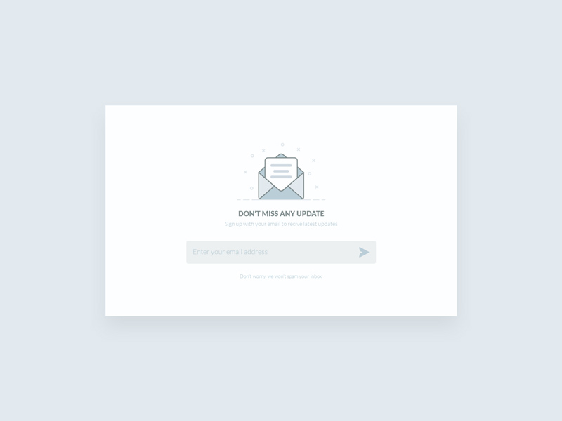 Free Newsletter UI Design download