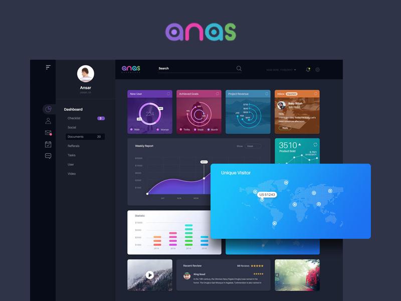 Free Anas Dashboard UI download