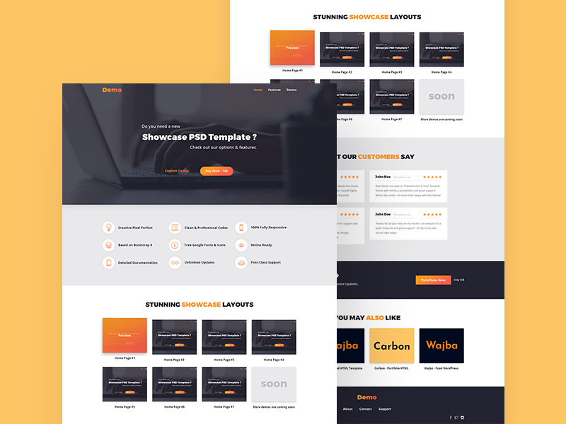 Free Landing Page Demo Template download