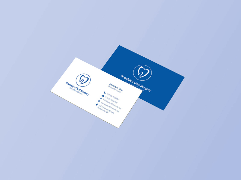 Oral surgery business card design freebie download photoshop oral surgery business card design colourmoves