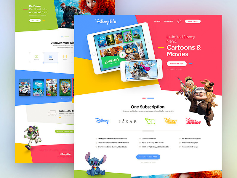 Disney Life Website Template – uisck