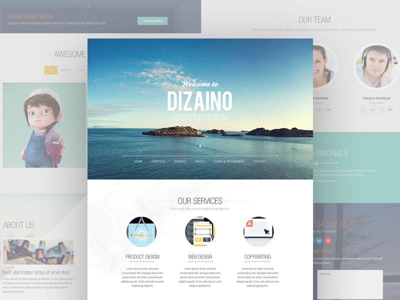 Dizaino One Page Template