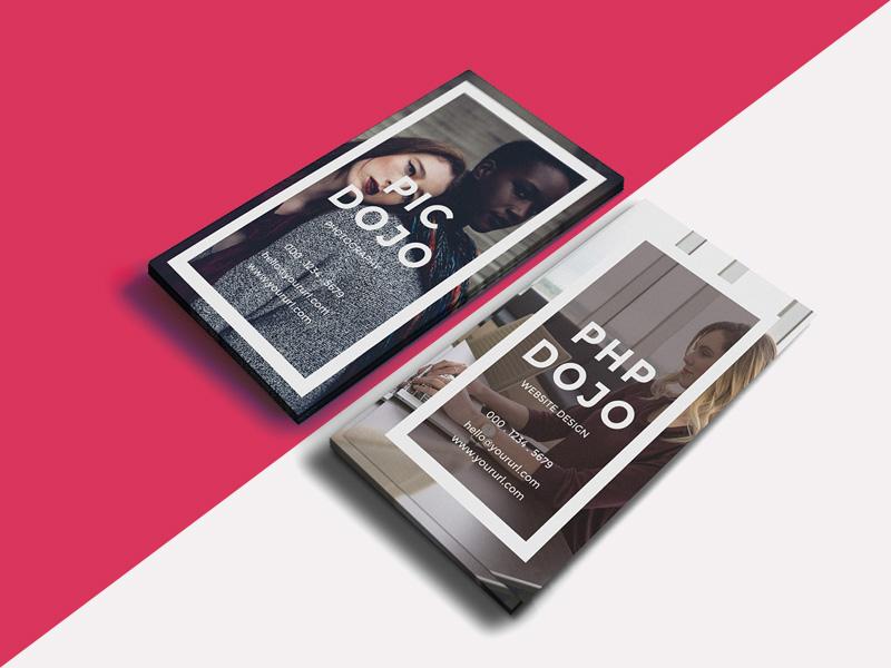 Dojo vertical business cards freebie download photoshop resource dojo vertical business cards reheart Images
