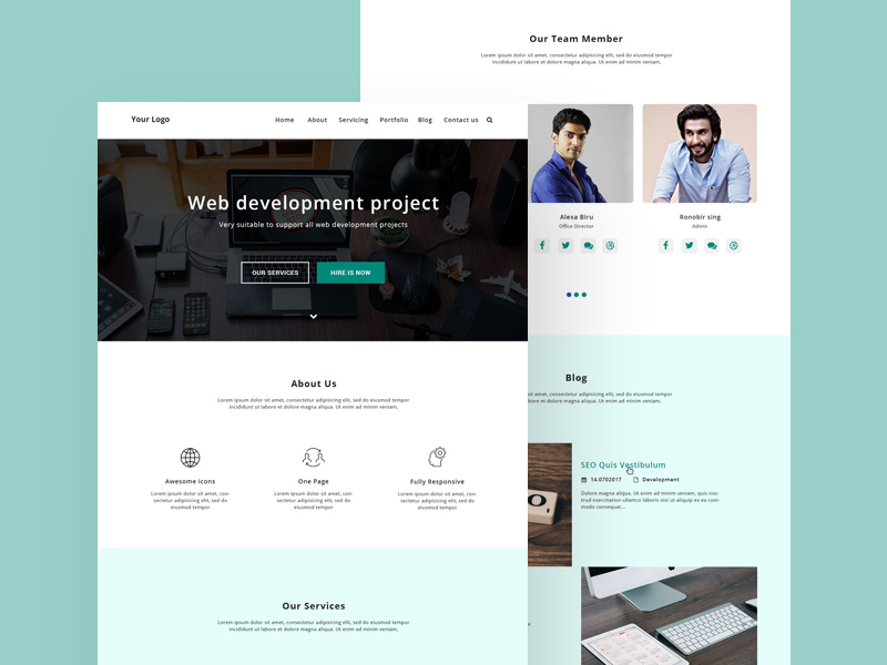 Edulab education website template homepage design by sayeed.