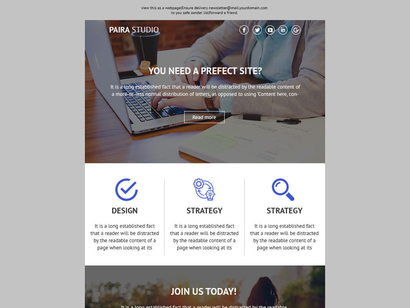 Free Newsletter PSD Template download