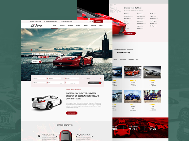 Driving car showroom website template freebie download photoshop driving car showroom website template maxwellsz
