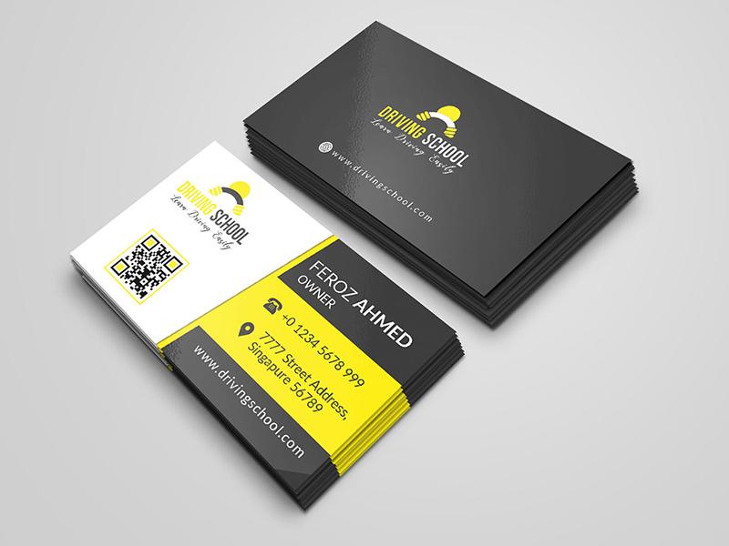 Driving School Business Card Freebie - Download Photoshop Resource ...